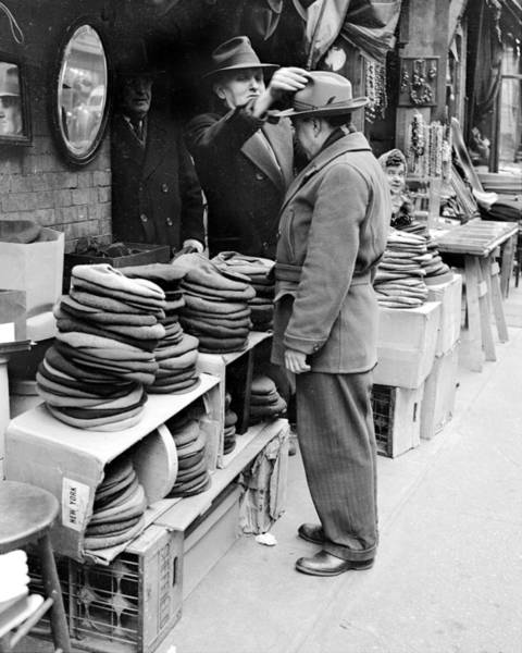 Photograph - Harry Kregman, Owner Of Hats & Caps, At by New York Daily News Archive