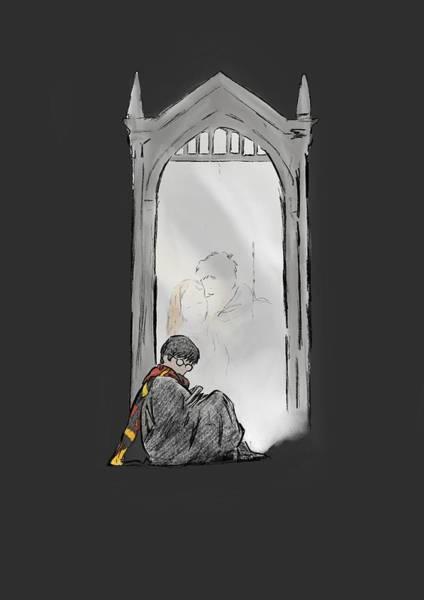 Ron Weasley Wall Art - Digital Art - Harry Potter Mirror by Uwaki Art