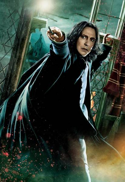 Snape Wall Art - Digital Art - Harry Potter Severus Snape by Geek N Rock