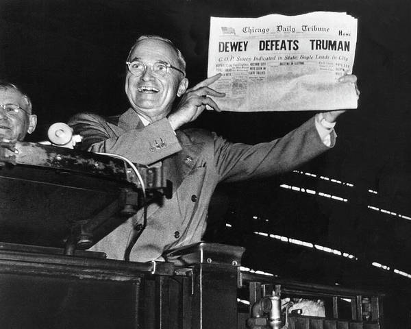 Election Photograph - Harry Truman by W. Eugene Smith
