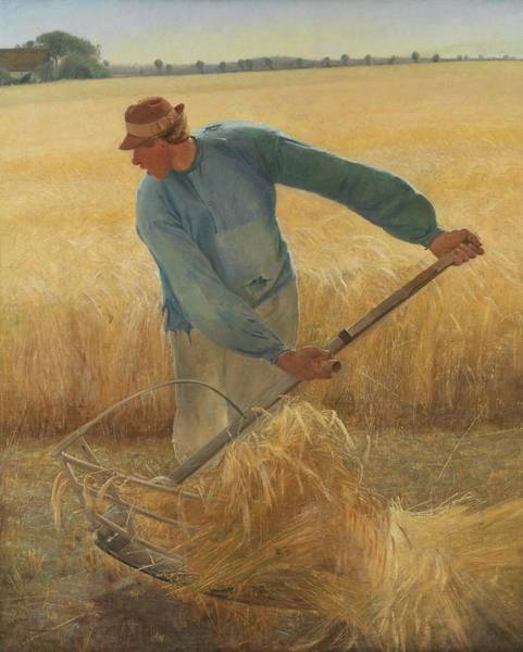 Laurits Andersen Ring Painting - Harvest, 1885. Oil On Canvas, 190.2 X 154.2 Cm. by L A Ring