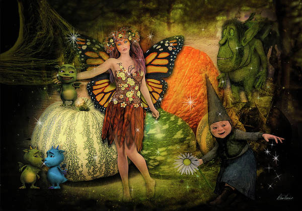 Photograph - Harvest Faeries by Diana Haronis