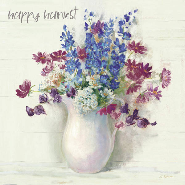 Wall Art - Painting - Harvest Ironstone Bouquet II by Carol Rowan