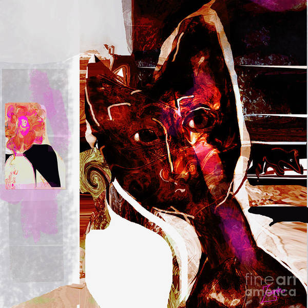Organic Abstraction Mixed Media - Oliver Spies A Mouse by Zsanan Studio
