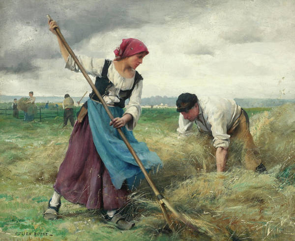 Sickle Painting - Harvesters, 19th Century by Julien Dupre