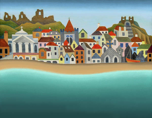 Wall Art - Painting - Hastings From The Sea by Jennifer Baird