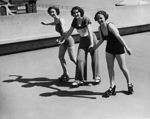 Roller Photograph - Hastings Skating by William Vanderson