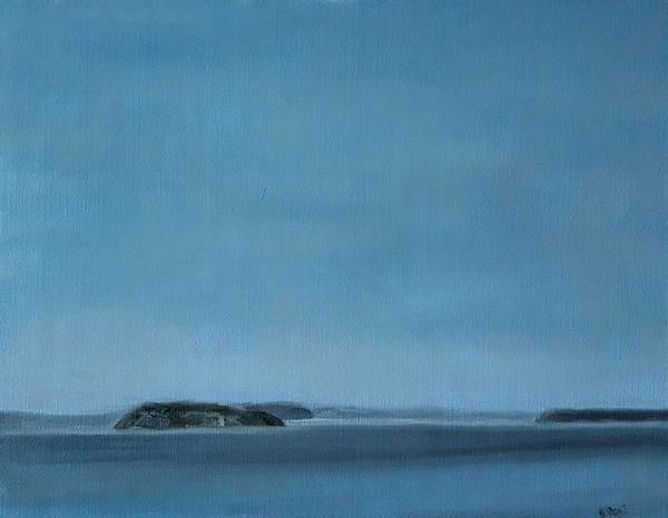 Painting - Hat Island View From Harborview Park by J Reynolds Dail