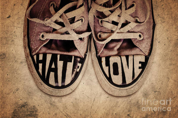 Crisis Photograph - Hate And Love by Delphimages Photo Creations