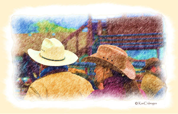 Mixed Media - Hats Western Style 2 by Kae Cheatham