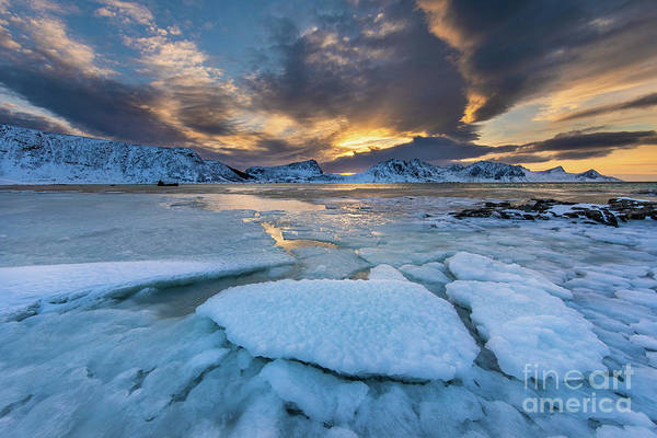 Wall Art - Photograph - Haukland Freeze by Inge Johnsson
