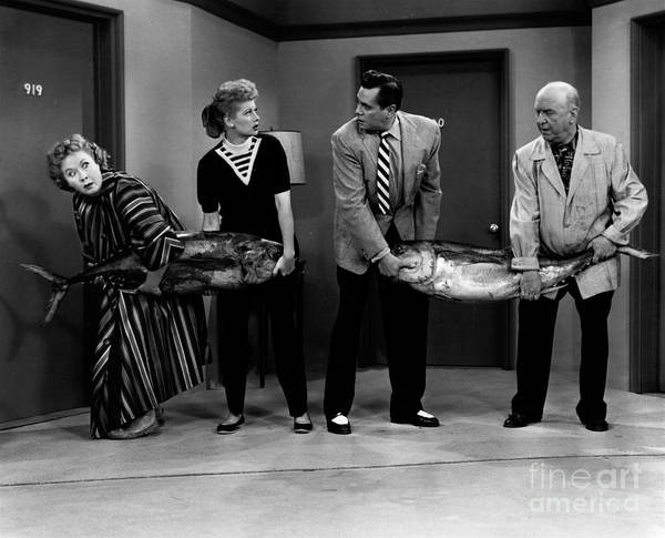 Wall Art - Photograph - Hauling Fish On I Love Lucy by Cbs Photo Archive