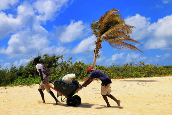 Photograph - Hauling In The Supplies To Prickly Pear Cay In Anguilla by Ola Allen