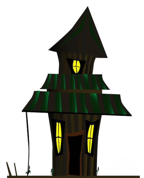 Dingy Digital Art - Haunted House by Bigalbaloo Stock
