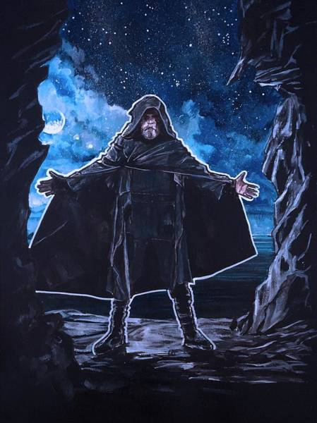 Painting - Haunted Jedi by Joel Tesch