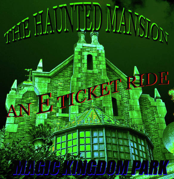 Wall Art - Painting - Haunted Mansion E Ticket Design A by David Lee Thompson