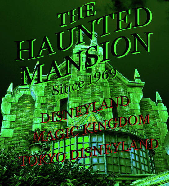 Mansion Mixed Media - Haunted Mansion Ride Work A by David Lee Thompson