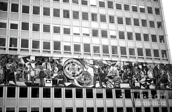 Wall Art - Photograph - Haus Des Lehrers In East Berlin Monochrome by John Rizzuto