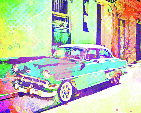 Columns Mixed Media - Havana, Cuba - Classic In Abstract by Chris Andruskiewicz