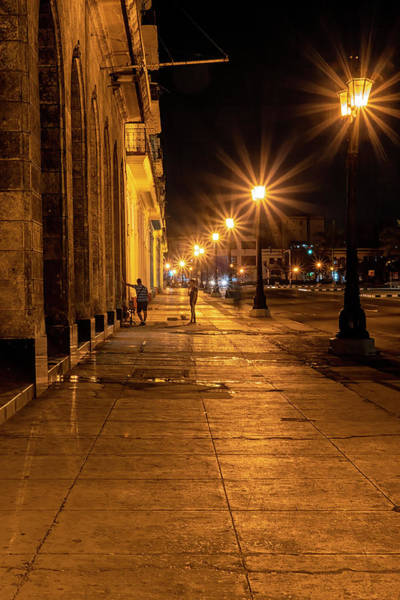 Photograph - Havana Street Lights by Tom Singleton