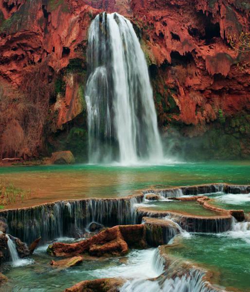 Wall Art - Photograph - Havasu Falls, Havasupai Reservation by Diane Cook And Len Jenshel