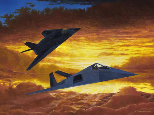Painting - Have Blue Fantasy Flight by Douglas Castleman