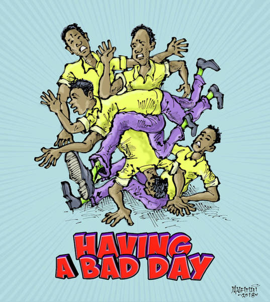 Wall Art - Painting - Having A Bad Day by Anthony Mwangi