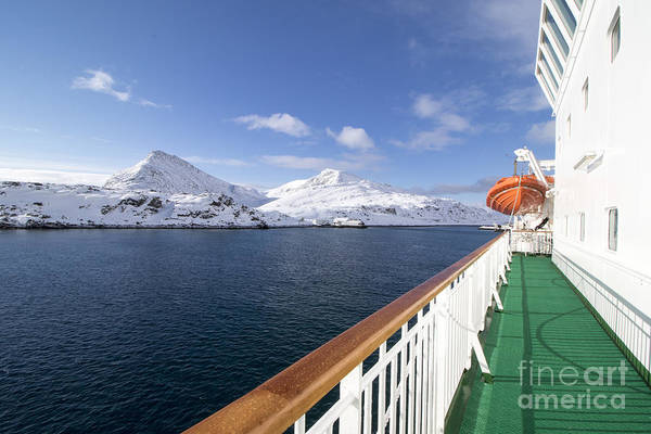 Fjord Photograph - Havoysund From A Ship  Is The by Ana Del Castillo