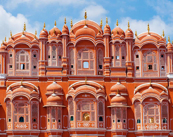 Wall Art - Photograph - Hawa Mahal Palace Palace Of The Winds by Byelikova Oksana