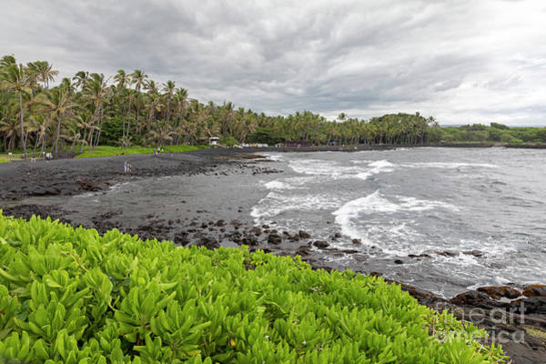 Photograph - Hawaii Black Sand Beach by Jim West