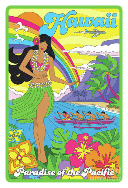 Wall Art - Digital Art - Hawaii Poster - Pop Art - Travel by Jim Zahniser