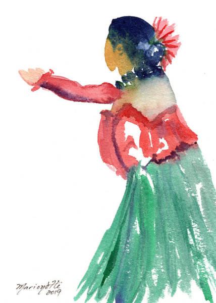 Painting - Hawaiian Hula Dancer 4 by Marionette Taboniar