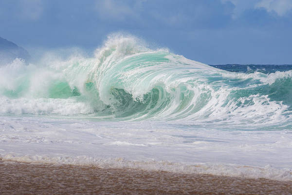 Photograph - Hawaiian Shorebreak by Eric Full