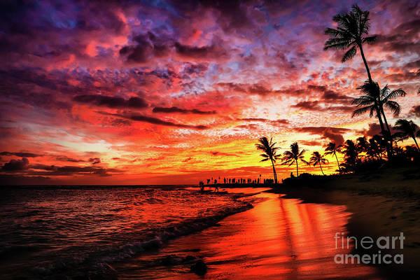 Photograph - Hawaiian Sunset by Miles Whittingham