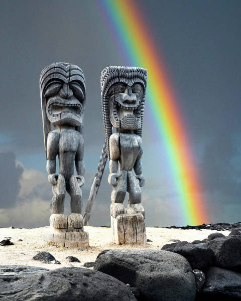 Wall Art - Photograph - Hawaiian Tikis by Sean Davey