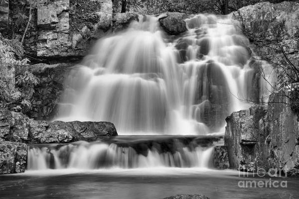 Photograph - Hawk Falls Closeup Black And White by Adam Jewell
