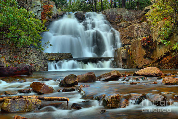 Photograph - Hawk Falls Colorful Canyon by Adam Jewell