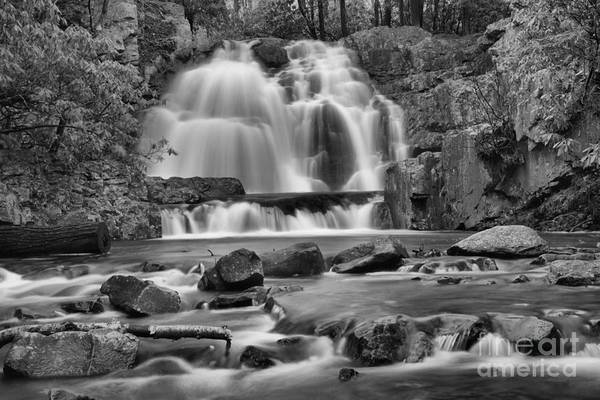 Photograph - Hawk Falls Colorful Canyon Black And White by Adam Jewell