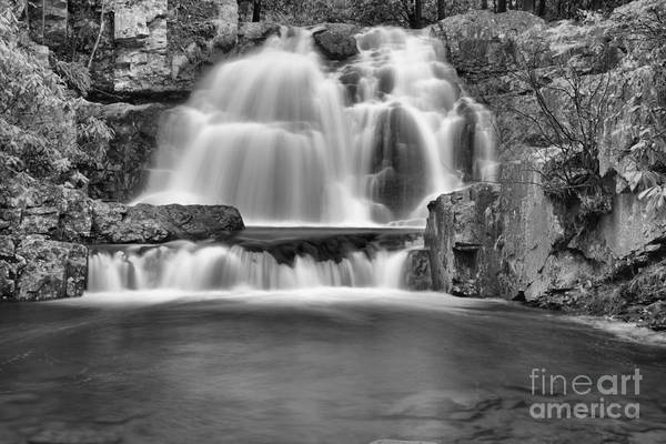 Photograph - Hawk Falls Pool Black And White by Adam Jewell