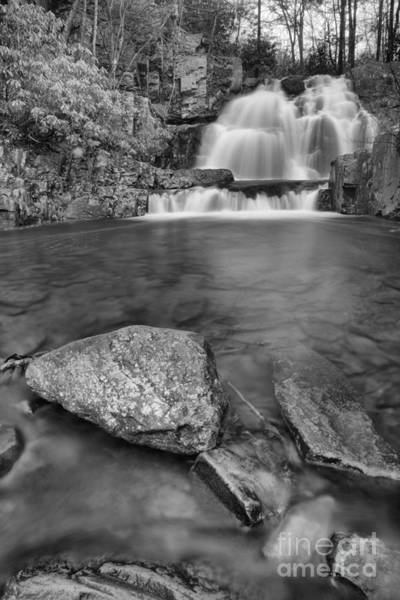Photograph - Hawk Falls Portrait Black And White by Adam Jewell