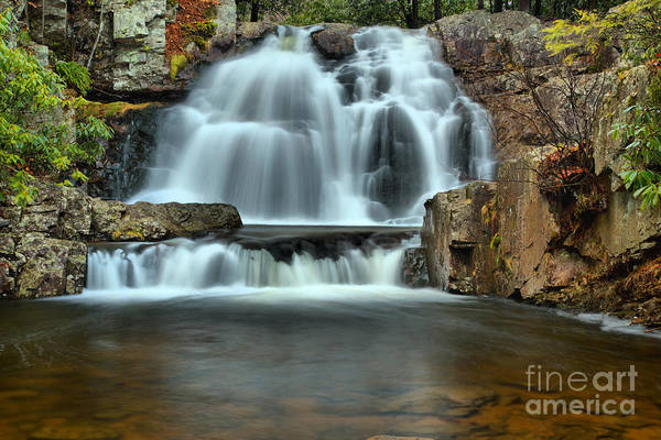 Photograph - Hawk Run Cascades by Adam Jewell