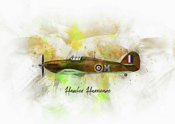 Digital Art - Hawker Hurricane by Ian Mitchell
