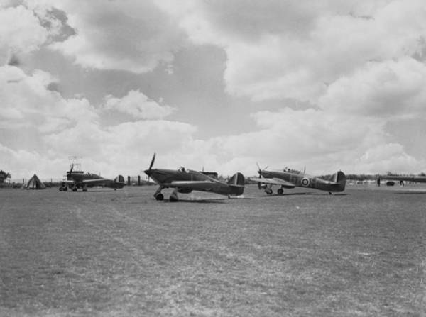 Taking Off Photograph - Hawker Hurricanes by Fox Photos