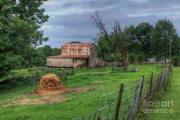 Wall Art - Photograph - Hay Bale In The Barnyard  by Larry Braun