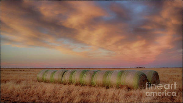 Photograph - Hay Bales On The High Plains by Natural Abstract Photography