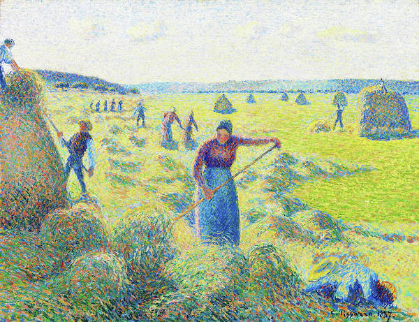 Paddock Wall Art - Painting - Hay Harvest, Eragny - Digital Remastered Edition by Camille Pissarro