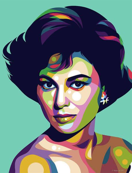 Pop Star Digital Art - Haya Harareet by Stars-on- Art