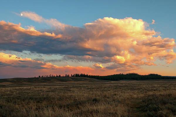 Photograph - Hayden Valley Sunset by Steve Stuller
