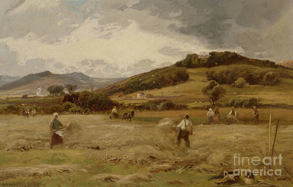 Wall Art - Painting - Haymaking by William Manners