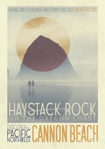 Oregon Coast Mixed Media - Haystack Rock by Ed Burczyk